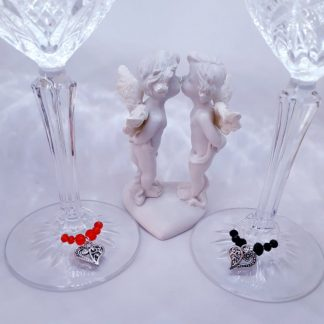 Szerelmes pohárjelölő kristály gyöngy