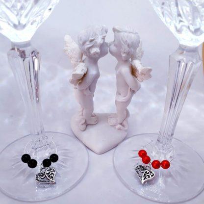 Szerelmes pohárjelölő készlet tekla gyöngy